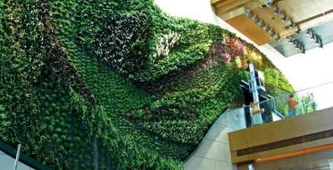 Hotel parks design - green roofs, flower walls...