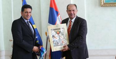 Ambassador of Egypt to Serbia discussed with the Mayor of Uzice the twinning with Aswan