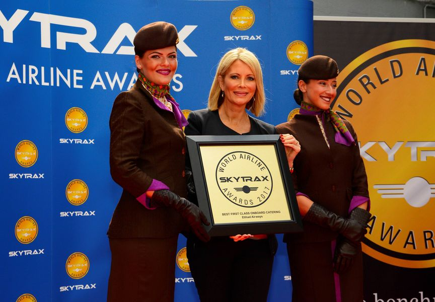 Skytrax Hat-Trick for Erihad Airways First Class