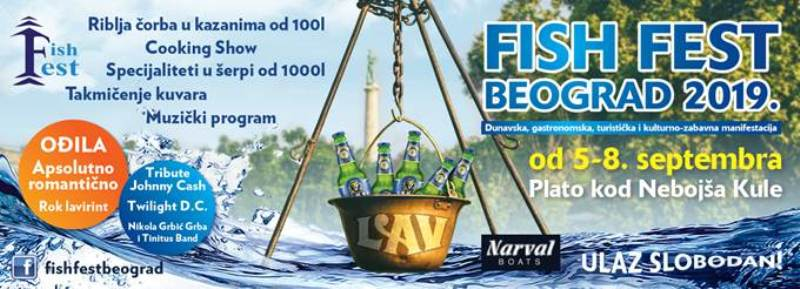 Fish Fest od 5. do 8. septembra na Kalemegdanu