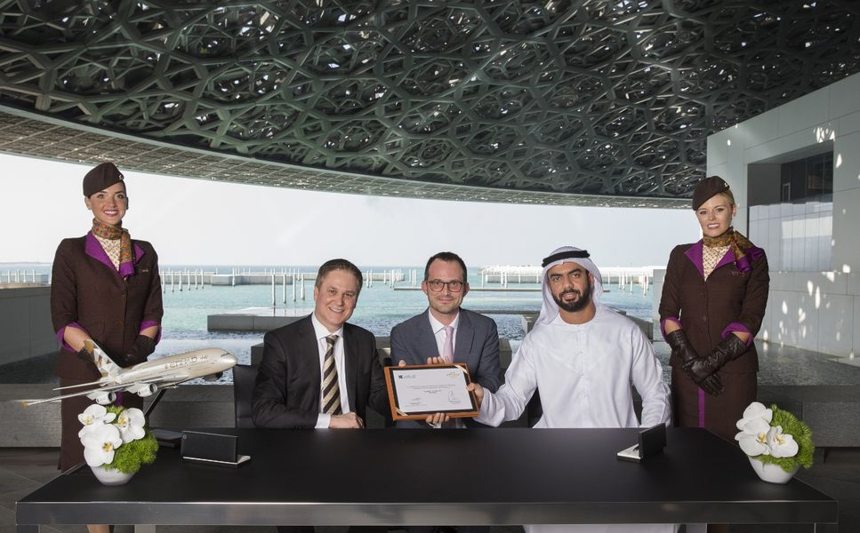 Louvre Abu Dhabi signed landmark partnership with Etihad Airways